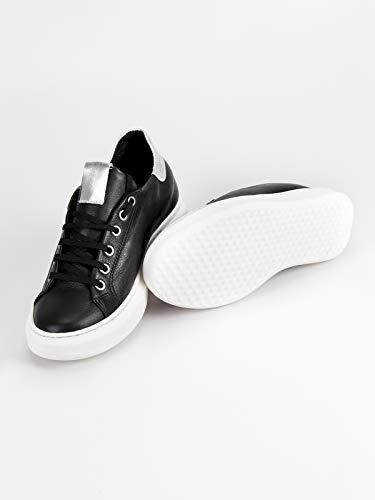De Mujer Tela Zapatillas Freetime Negro Para OqxB5zw