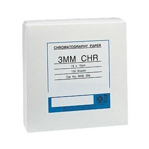 GE Healthcare 3030-866 Whatman Grade 3 mm Chr Cellulose Chromatography Paper, Sheet, 8'' Width, 10'' Length (Pack of 100) by GE