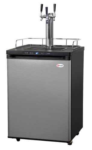 Kegco K309SS-3HB Triple Faucet Digital Homebrew Kegerator (Large Image)