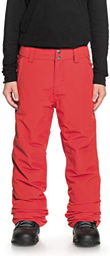 Quiksilver Boys' Big Estate Youth 10K Snow Pants, Flame, 12/L