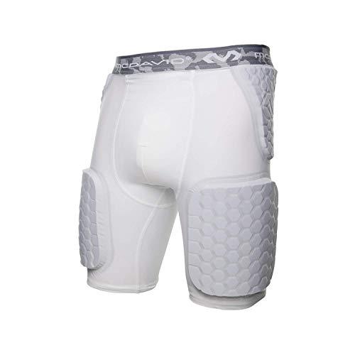 McDavid Hex Dual-Density Thudd Shorts, White, Medium