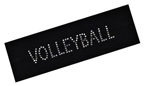 VOLLEYBALL Rhinestone Cotton Stretch Headband Teens Adults - Volleyball Team Gift ~Funny Designs