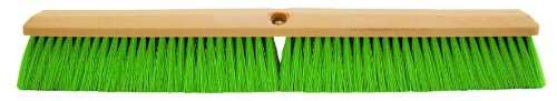 "Magnolia Brush 3318-N Foam Plastic Block Vehicle Wash Brush, Flagged Nylon Bristles, 2-1/2"" Trim, 18"" Length, Green (Case of 12)"