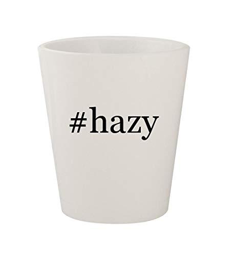 #hazy - Ceramic White Hashtag 1.5oz Shot Glass