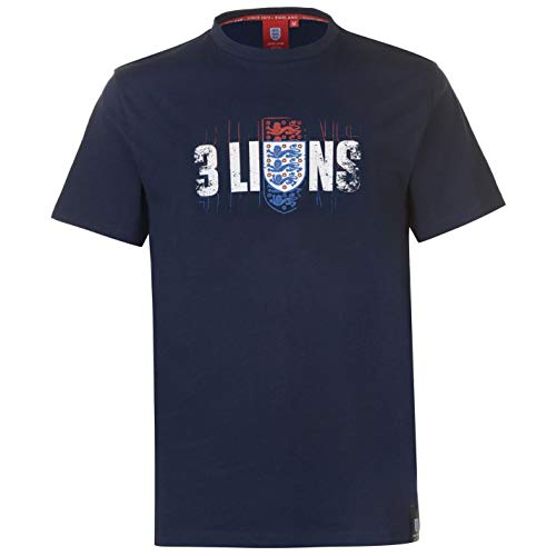 Abercrombie & Fitch FA England 3 Lions T-Shirt Mens Football Soccer Fan Top Tee Shirt Blue Small
