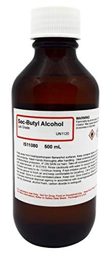 Laboratory-Grade Sec-Butyl Alcohol, 500mL - The Curated Chemical - Butyl Alcohol