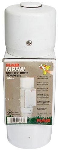 RAB Lighting MPAW Mighty Post Adapter, 9-1/2
