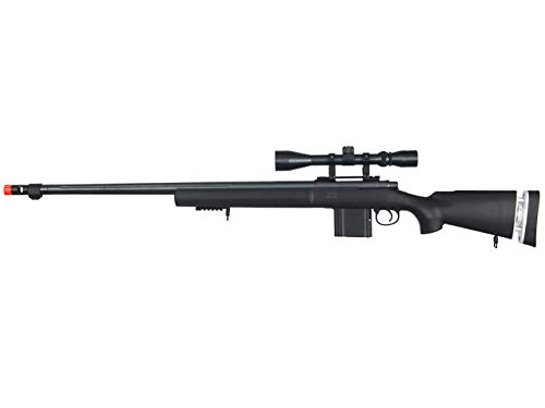 Well MB4405 Airsoft Sniper Rifle W / Scope - Negro