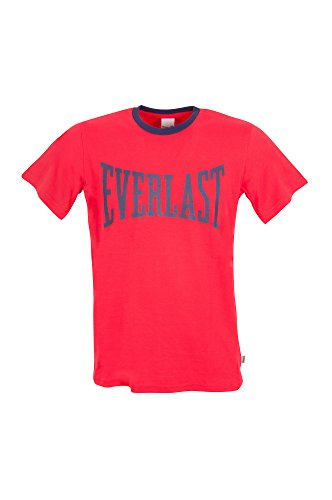 Taglie Maglietta Grande Logo Tshirt Cotone 100 xxl Uomo Rosso Con xl l M Everlast qwwB60I8