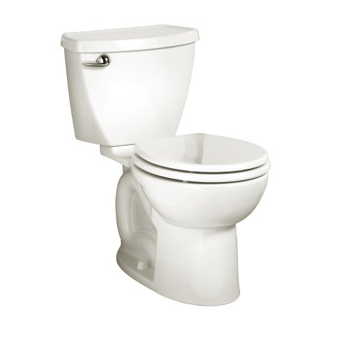 - American Standard 270DA001.020 Cadet 3 Round Front Two-Piece Toilet with 12-Inch Rough-In, White