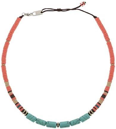 Zag Bijoux - Collar con Piedras (Coral y Turquesa)