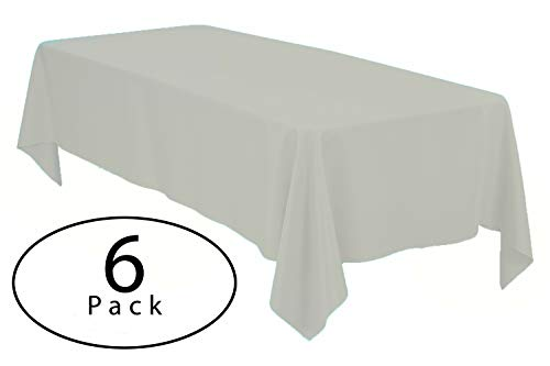 Minel Disposable Party Table Cloths Rectangular 6 Pack Ivory by Minel