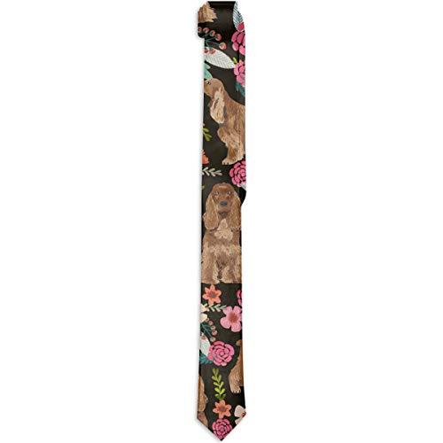 Men's Skinny Fashion Leisure Tie Cocker Spaniel Necktie