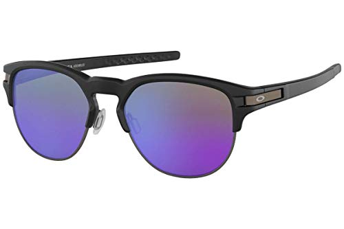 Oakley Men's Latch Key Non-Polarized Iridium Round Sunglasses, Matte Black, 55.0 ()
