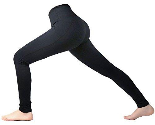 2d18f165b36bd Women High Waist Inner Pocket Yoga Pants Active Workout Running Sports  Leggings
