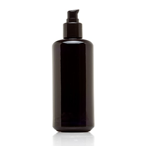 Infinity Jars 200 Ml (6.8 fl oz) Black Ultraviolet Glass Push Pump Bottle