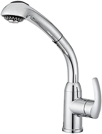 Dura Faucet DF-NMK861-CP RV Hi-Rise Pull-Out Kitchen Faucet Chrome