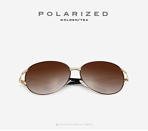 de Shopping Color Diamond de Box Sol Go Fashion de Easy de Gafas de Conducción Sol Metal Mujeres 4 Mujeres Revestimiento Las UV400 4 Gafas polarizadas de 15cYc7Wgqv
