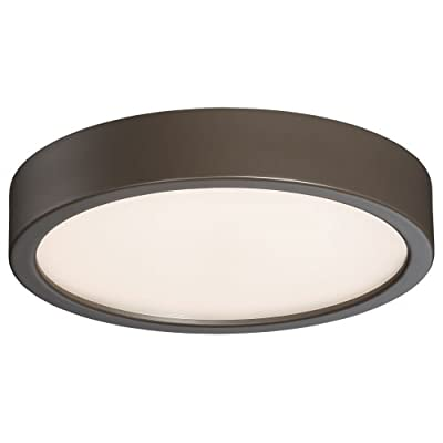 George Kovacs P841--609-L 1 Light Flush Mount,Silver