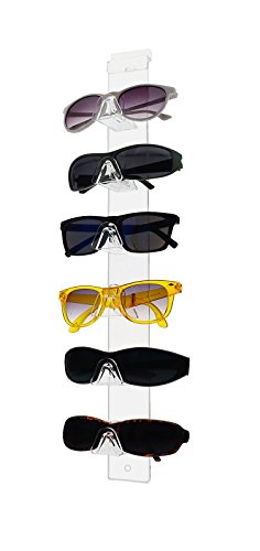 Marketing Holders 6 Tier Acrylic SUNGLASSES EYEGLASSES Display Slatwall - Display Wall Sunglasses