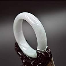 Amazon Com Natural Burmese Icy Jade Bangle Myanmar Jadeite Jewelry