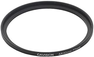 Cavision Thin Step-Up Ring, Front 82mm Thread (85mm OD), Rear 77mm Thread, Depth 6mm