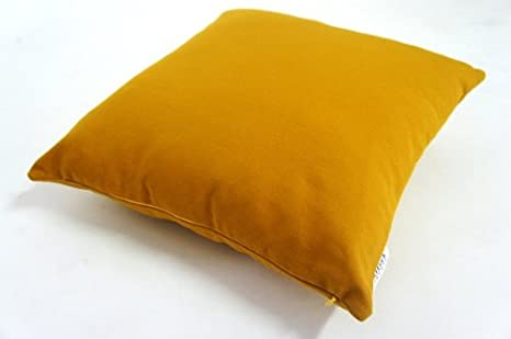 Amazon.com: Plain Mostaza Amarillo Throw almohada 20 x 20 ...