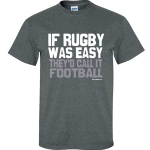 Image Sport Rugby If Rugby Was Easy Dark Heather T-Shirt Adult Large