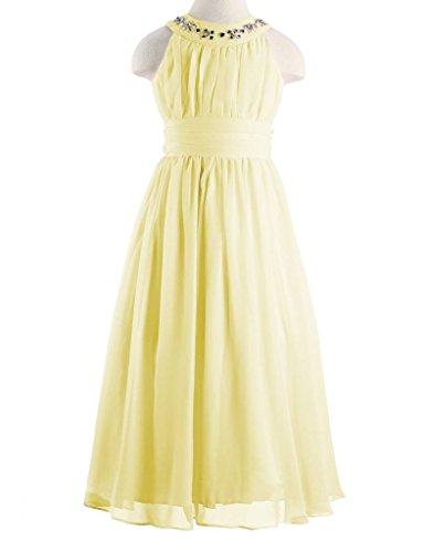 Happy Rose Chiffon Long Junior Bridesmaid Dress Yellow 16 by Happy Rose (Image #2)