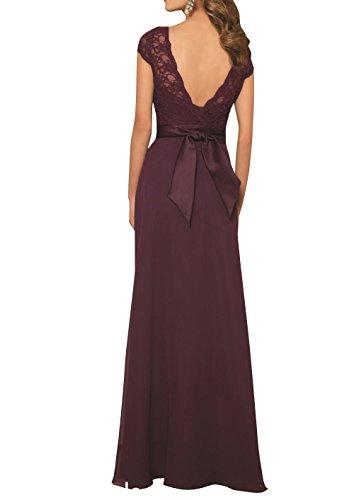 Braun Brau mia La Spitze Elegant Brautjungfernkleider Chiffon Kleider Abendkleider Jugendweihe Brautmutterkleider Abschlussballkleider 7BZxqP7a