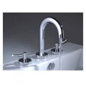 2 Bathroom Chrome Faucet (Two Handles Chrome Wide Spread Bathroom Sink Faucet (Cold and Hot Switch))