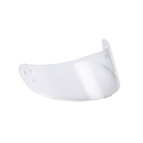 Triangle Clear Replacement Visor Face Shield for Full Face Street Bike Motorcycle Helmet Model #TFF15 (One Size)