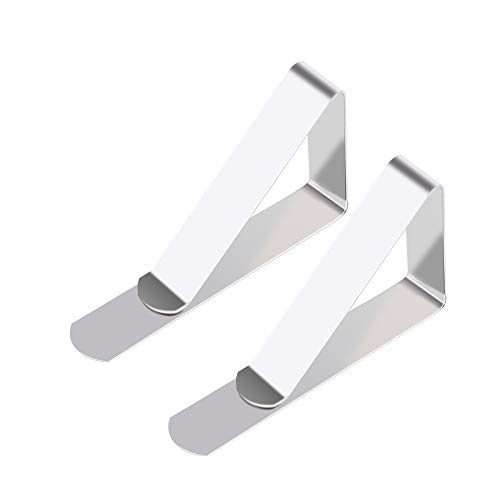 17amumu Large Tablecloth Clips for Outdoor Tables, Fit in 2-2.5 inches Wooden Picnic Tables - Stainless Steel - Set of 12