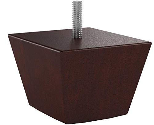 "3"" Wood Sofa/Chair/Ottoman Tapered Leg Walnut Finish Threaded 5/16"" Bolt - Set of 4"