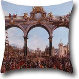 Oil Painting Francesco Battaglioli - Didone Abbandonata (Acto I, Escena V) Pillowcase ,best For Bf,seat,boys,gril Friend,teens Girls,christmas 20 X 20 Inches / 50 By 50 Cm(each Side)