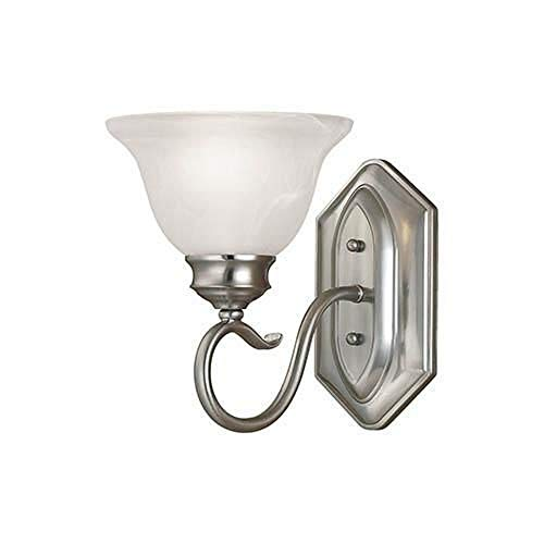 Millennium Lighting 6171-SN Devonshire - One Light Wall Sconce, Satin Nickel Finish with Faux Alabaster Glass