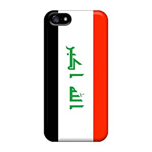 Fashion Tpu Case For Iphone 5/5s- Iraq Flag Defender Case Cover