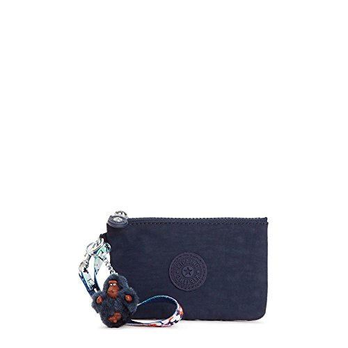 Kipling Candy Solid Mini Wristlet with a Floral Strap, True Blue by Kipling