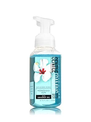 HONOLULU SUN, SUNSHINE & LEMONS AND VANILLA COCONUT Bath & Body Works Pack of 3 Gift Set of Gentle Foaming Hand Soap with a Jarosa Bee Organic Chocolate Bliss Lip Balm