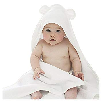 Ultimate Quality Baby Hooded Towel with Ear, Pink Trimmed Hooded Towel with Ears, Very Comfortable- Ultra Quality Baby Towel with Ears for Toddlers