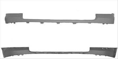 OE Replacement GMC Sierra Front Bumper Cover Upper (Partslink Number GM1014102)