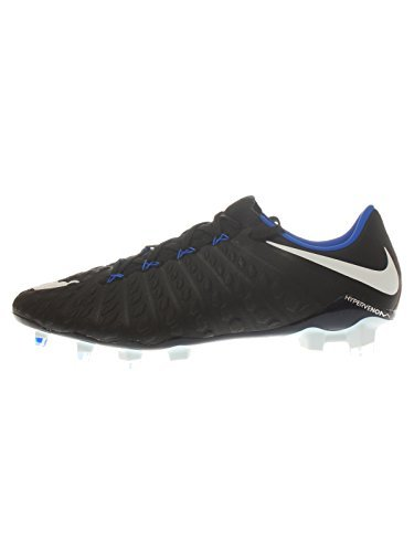 NIKE Men's Hypervenom Phantom III FG Soccer Cleat (SZ. 10) Black, Blue
