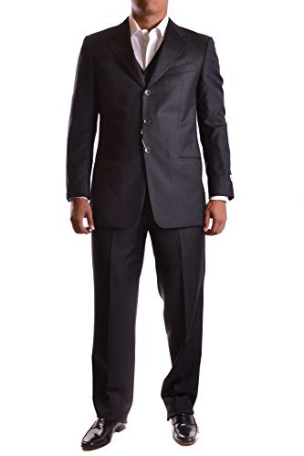 Armani Collezioni Men's Mcbi19109 Grey Wool Suit