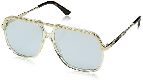22fbb344aa60 Gucci GG 0200 S- 005 YELLOW LIGHT BLUE GOLD Sunglasses