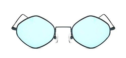 Inspirées Style de Polarisées du et Cercle Bleu Femmes Rond Retro Steampunk Pour en Hommes Lunettes Soleil Métallique Glacier txwSXdEF