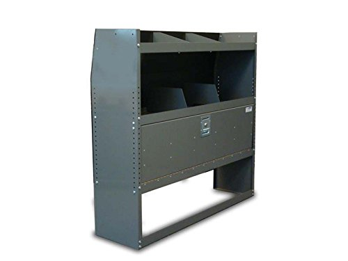 Van Shelving Unit with Door Kit 38''L x 44''H x13''D Ford Transit Connect Long wheel base by True Racks