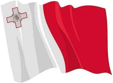 Autoaufkleber Sticker Fahne Malta wehend Flagge Aufkleber