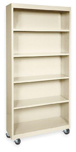 Metal Mobile Bookcase (Atlantic Metal Mobile Bookcase - 36X18x78