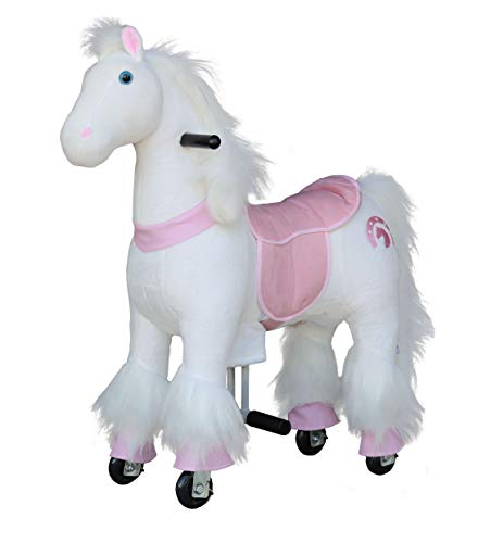 (Medallion - My Pony Ride On Real Walking Horse for Children 3 to 6 Years Old or Up to 65 Pounds (Color Small Pink Horse))