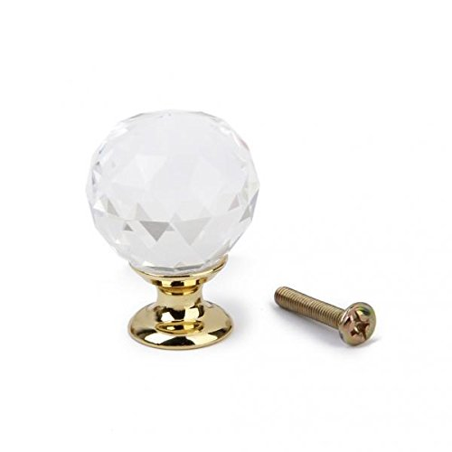 Jewel Cabinet - Homyl 5x Clear Crystal Knob Drawer Jewel Box Cabinet Wardrobe Pull Handle W/ Gold Base